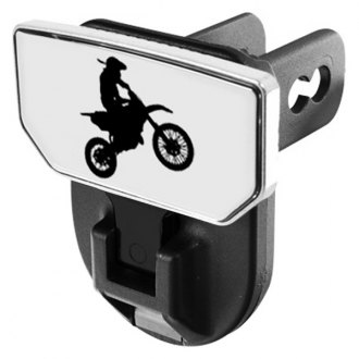 CARR® - HD Universal Hitch Steps With Dirt Bike Logo