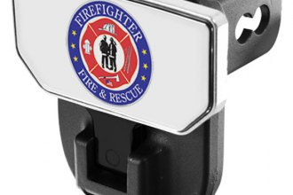 CARR® 183212 - HD Universal Hitch Steps With Fire & Rescue Logo