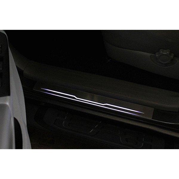 Carrichs® - Aniglo™ Brushed Door Sills  sc 1 st  CARiD.com & Carrichs® SPFD734 - Aniglo™ Illuminated Brushed Door Sills