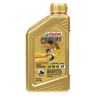 Castrol® - SAE 5W-40 1 qt. Power1 4T Synthetic Motor Oil
