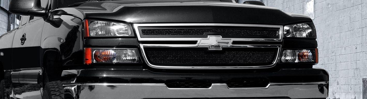 2001 Chevy Silverado Custom Grilles Billet Mesh Led Chrome Black