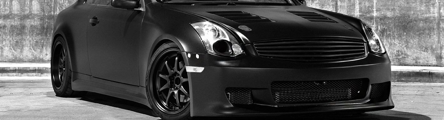 2007 Infiniti G35 Custom Grilles Billet Mesh Led Chrome Black