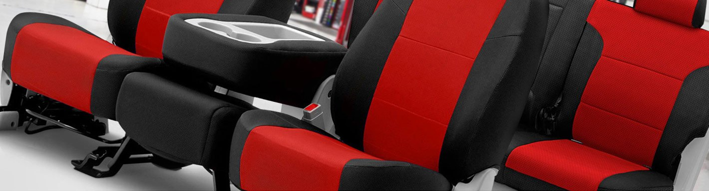 Car seat covers fit Mitsubishi L200 black//red  leatherette full set