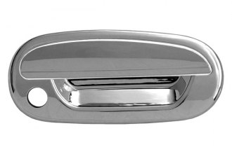CCI® - Chrome Door Handle Covers With Passenger Side Key Hole and without Key Pad