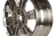 "CCI® - 18"" Remanufactured 6-Slim-Groove-Down-Spoke Bright Polished Factory Alloy Wheel"