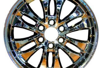 "CCI® - 20"" Remanufactured Rear 12-Spoke Chrome Factory Alloy Wheel"