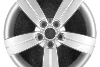 "CCI® - 17"" Remanufactured 5-Spoke with Groove All Painted Silver Factory Alloy Wheel"