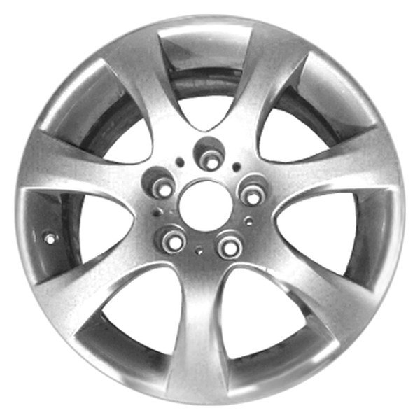 "CCI® - 17"" Remanufactured 7 Spokes All Painted Silver Factory Alloy Wheel"