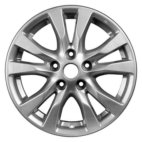 "CCI® - 16"" Remanufactured 5 Double Spokes All Painted Medium Charcoal Metallic Factory Alloy Wheel"