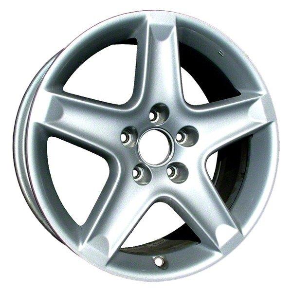 cci u00ae aly71733u20n 17 quot  replica 5 spokes silver factory Red Lug Nuts Wheel Lug Nuts