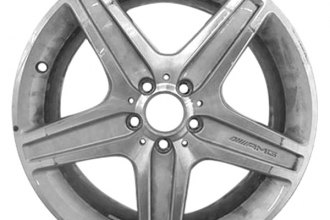 "CCI® - 19"" Remanufactured Rear 5 Spokes Machined and Light Silver Metallic Factory Alloy Wheel"
