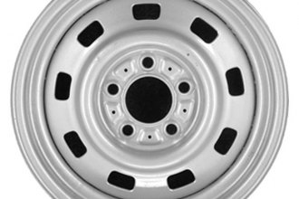 "CCI® - 15"" Remanufactured 9-Hole Silver Factory Steel Wheel"