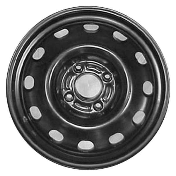 Remanufactured Black Factory Steel Wheel