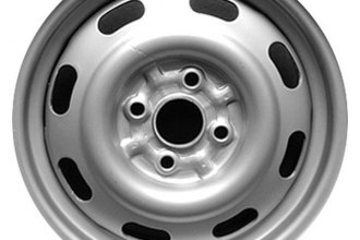 "CCI® - 14"" Remanufactured 8-Holes Silver Factory Steel Wheel"