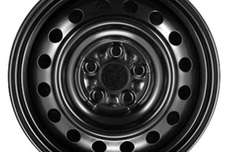 "CCI® - 15"" Remanufactured 16-Round-Holes Black Factory Steel Wheel"