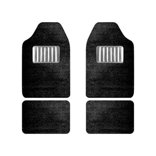 CCI® - Black Floor Mat Set With Heel Pad