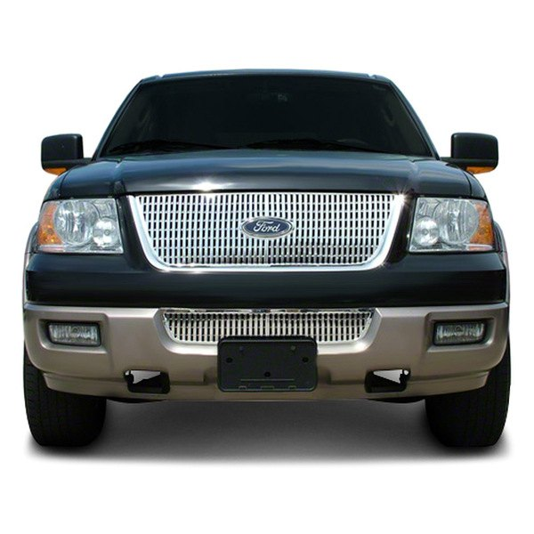 cci iwcgi43 ford expedition 2003 2004 chrome grille skin. Black Bedroom Furniture Sets. Home Design Ideas