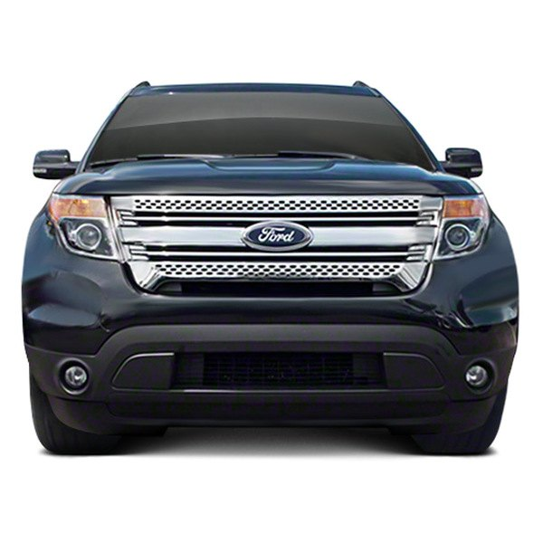 Cci Iwcgi91 Ford Explorer 2013 Triple Chrome Plated Grille Overlay