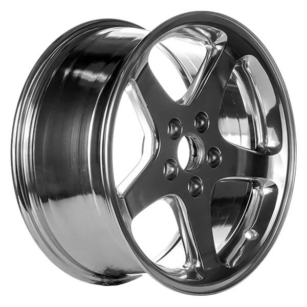 "CCI® - 17"" Remanufactured 5 Spokes Bright Polished Factory Alloy Wheel"