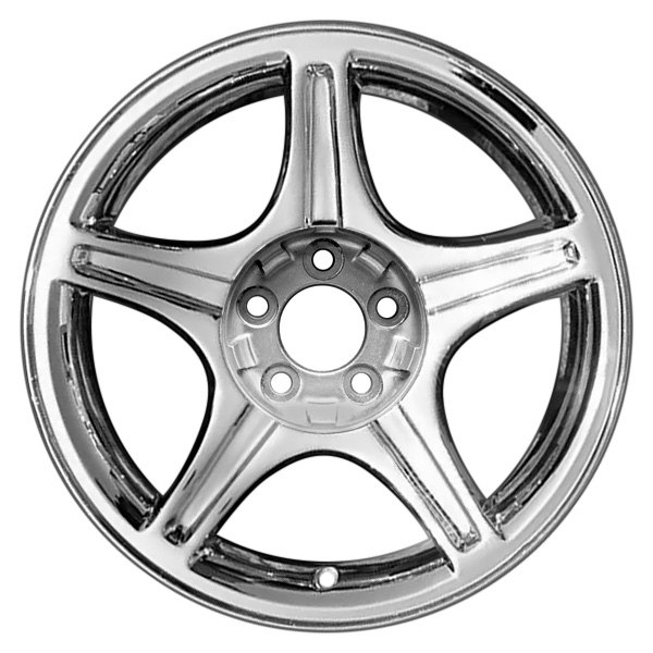 "CCI® - 17"" Remanufactured 5 Spokes Chrome Factory Alloy Wheel"