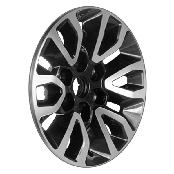 "CCI® - 17"" Remanufactured 12 Spokes Machined and Black Pearl Metal Factory Alloy Wheel"