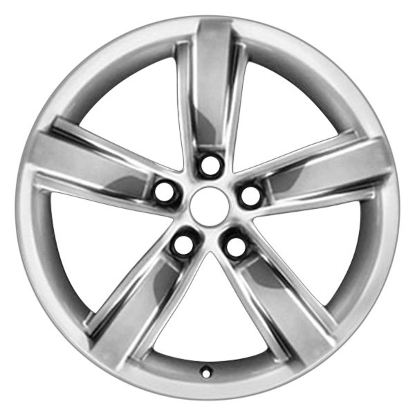 "CCI® - 20"" Remanufactured Rear 5 Spokes Bright Silver Metallic Painted Face Factory Alloy Wheel"