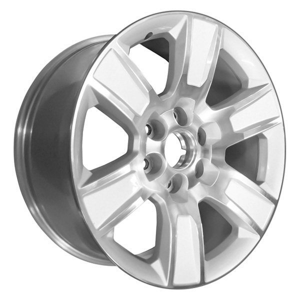 "CCI® - 20"" Remanufactured 6 Spokes Polished and Silver Factory Alloy Wheel"