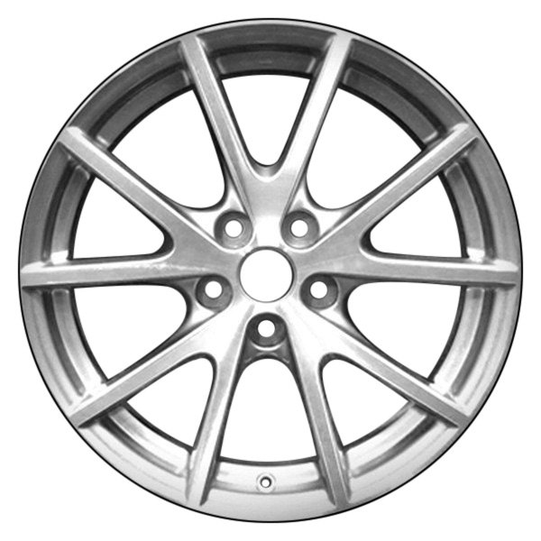 "CCI® - 18"" Remanufactured 10 Spokes Charcoal Gray Factory Alloy Wheel"