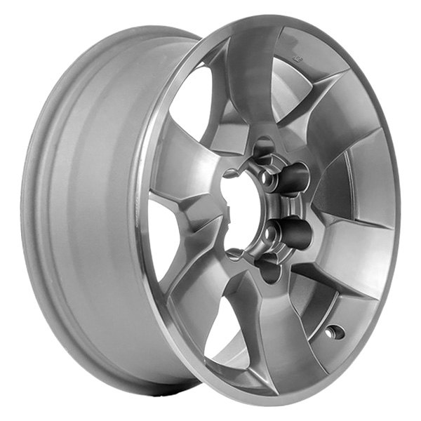 CCI® - 17 x 7 6-Spoke Machined and Medium Charcoal Alloy Factory Wheel (Remanufactured)