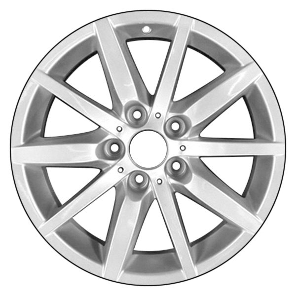 "CCI® - 17"" Remanufactured 10 Spokes All Painted Silver Factory Alloy Wheel"