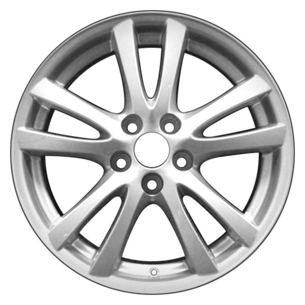 "CCI® - 18"" Remanufactured Rear 10 Spokes Silver Factory Alloy Wheel"