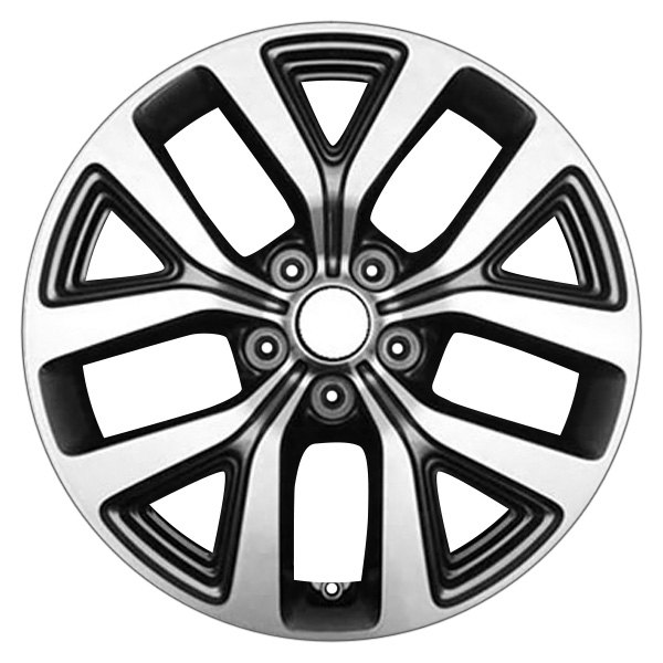 "CCI® - 17"" Remanufactured 10 Spokes Machined and Charcoal Factory Alloy Wheel"