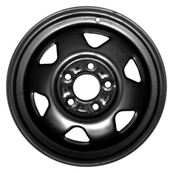 cci stl09029u45 15x7 6 spoke black steel factory wheel Quadratec Jeep Wheels cci 15 x 7 6 spoke black steel factory wheel remanufactured