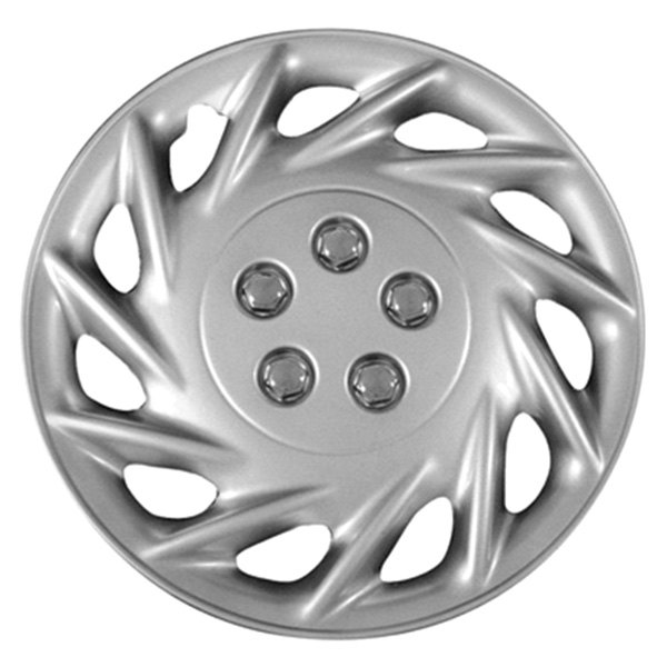 "CCI® - 14"" 11 Spokes 11 Directional Vents Silver Wheel Covers"