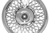 "CCI® - 14"" Lacy Spokes Chrome Aftermarket Wheel Covers"