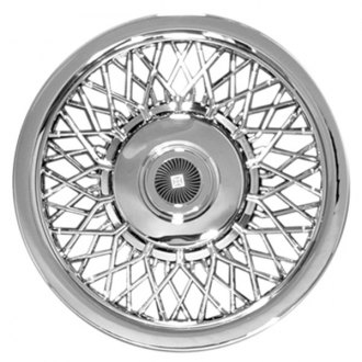 "CCI® - 14"" Lacy Spokes Chrome Aftermarket Wheel Cover Set"