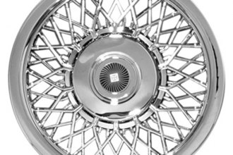 "CCI® - 15"" Lacy Spokes Chrome Aftermarket Wheel Covers"
