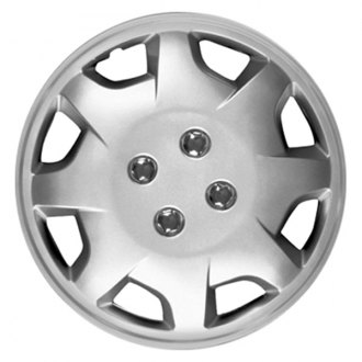"CCI® - 13"" 8 Spokes Directional 8 Directional Vents Silver Wheel Cover Set"