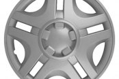 "CCI® - 15"" 5 Slotted Spokes Silver Wheel Covers"