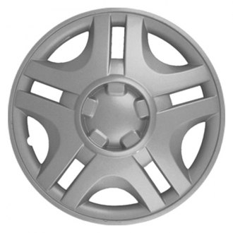 "CCI® - 15"" 5 Slotted Spokes Silver Wheel Cover Set"