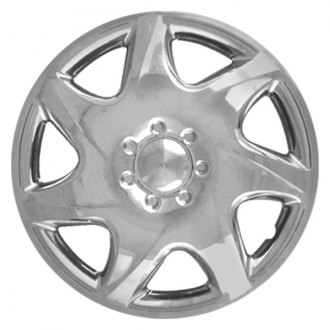 "CCI® - 14"" 7 Spokes 7 Directional Vents Silver Wheel Cover Set"
