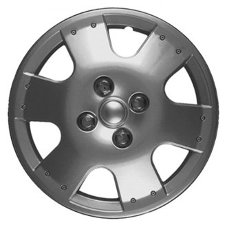 "CCI® - 14"" 6 Spokes 6 Vents Silver Wheel Cover Set"