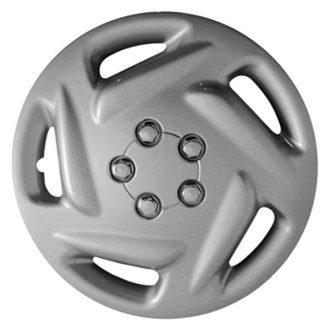 "CCI® - 15"" 5 Directional Vents Silver Wheel Cover Set"