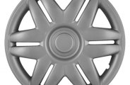 "CCI® - Universal 15"" 6 Slotted Spokes 12 Holes Silver Wheel Covers"