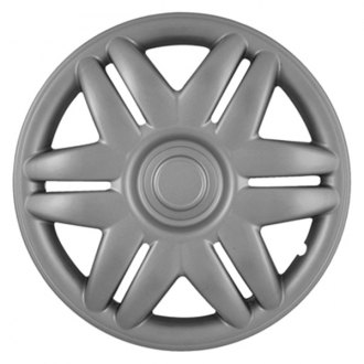 "CCI® - 15"" 6 Slotted Spokes 12 Holes Silver Wheel Cover Set"