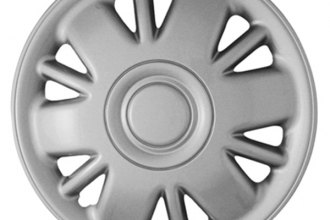 "CCI® - 15"" 6 Double Vents Silver Wheel Covers"