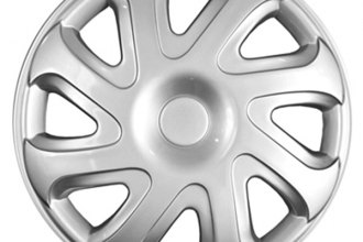 "CCI® - 14"" Standard 8 Directional Spokes 8 Directional Vents Silver Wheel Covers"
