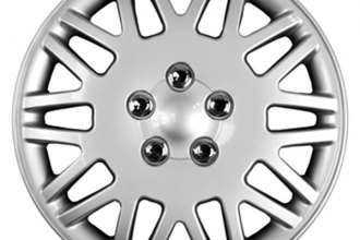"CCI® - Universal 15"" Lace Design Silver with Chrome Wheel Covers"