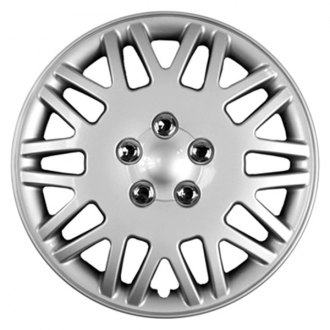 "CCI® - 16"" Lace Design Silver with Chrome Wheel Cover Set"