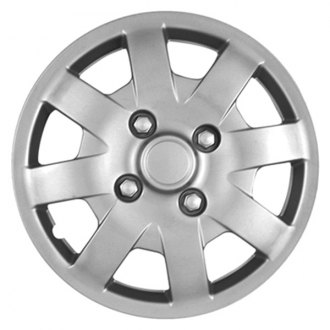 "CCI® - 14"" 8 Spokes 8 Vents with Depression Silver Wheel Covers"